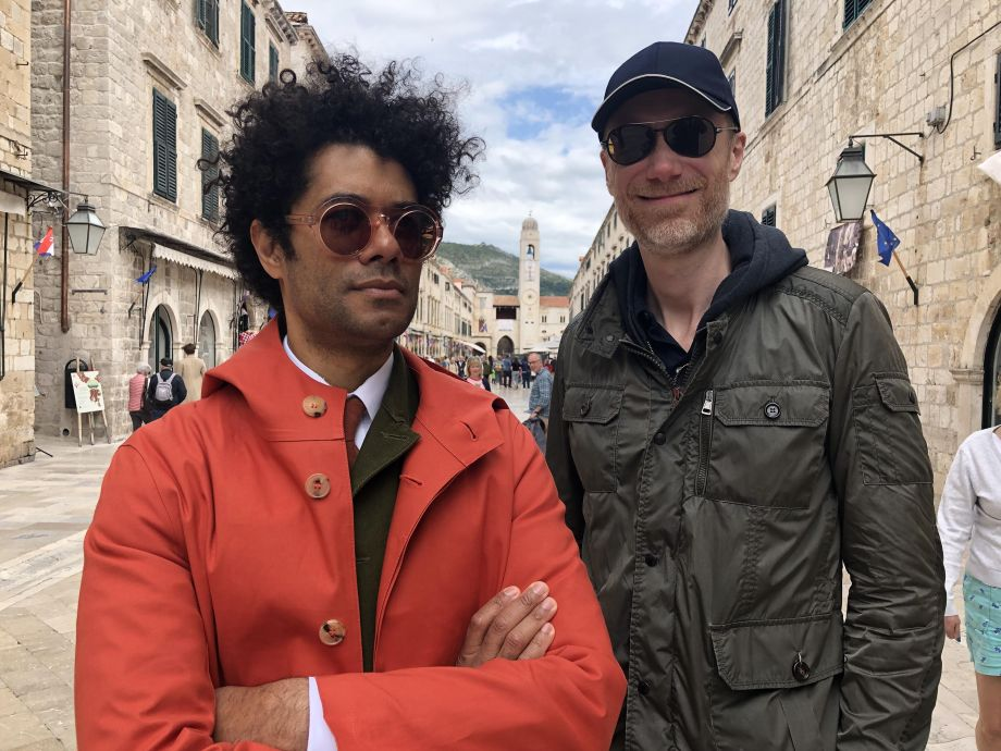 Dubrovnik. Richard Ayoade and Stephen Merchant