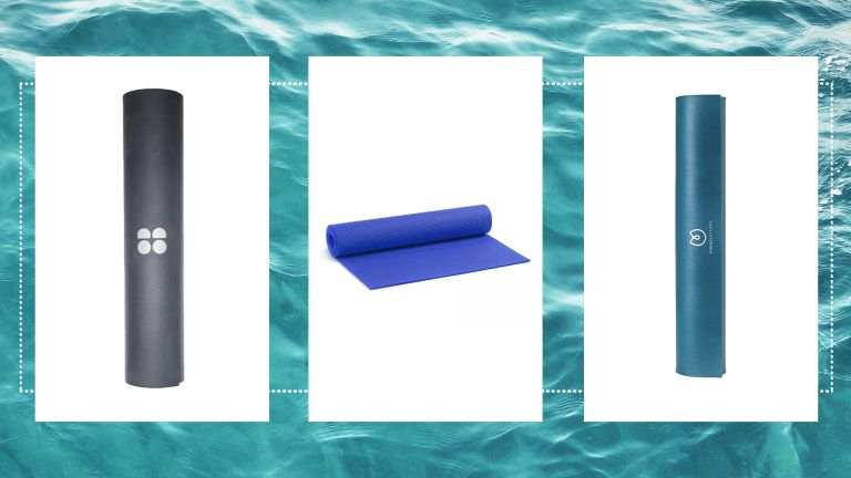 images of three of w&h's best yoga mats picks on a water background