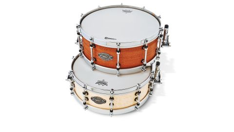 The Modern Classic is available in Natural Mahogany (top) or Birdseye Maple (bottom) finishes
