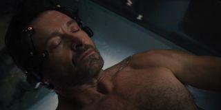 Nick Bannister (Hugh Jackman) in Reminiscence (2021)
