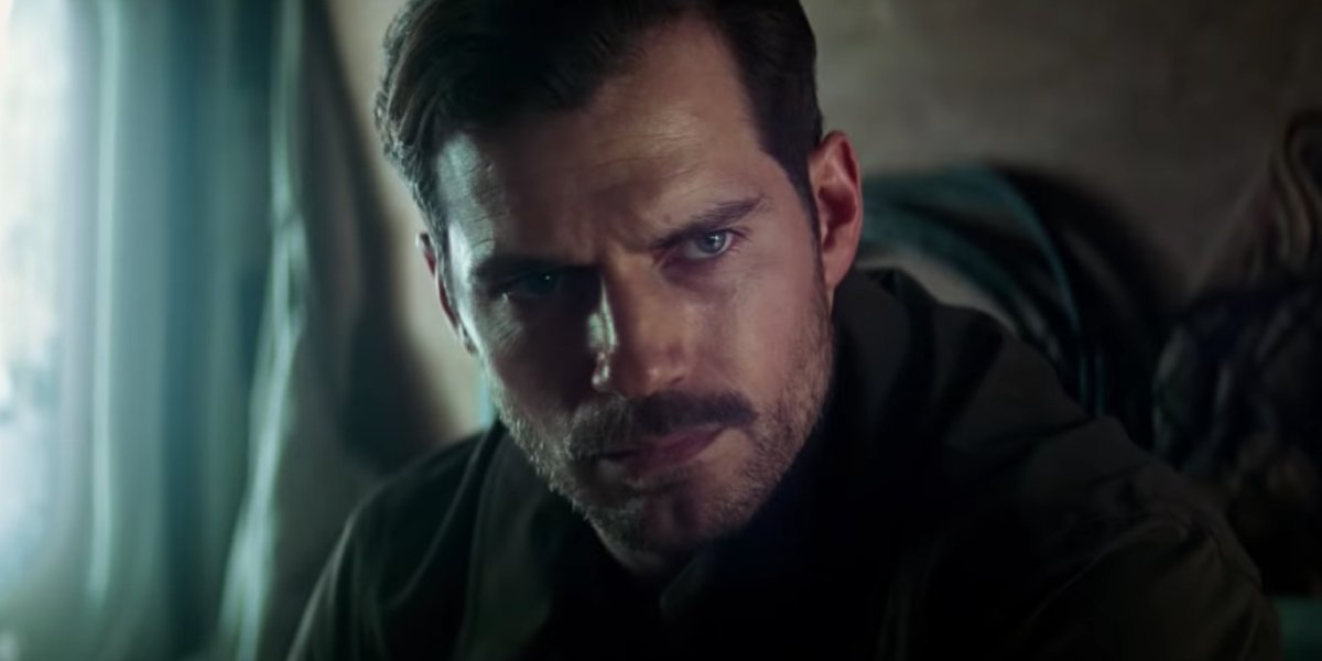Mustachioed Henry Cavill in Mission: Impossible - Fallout