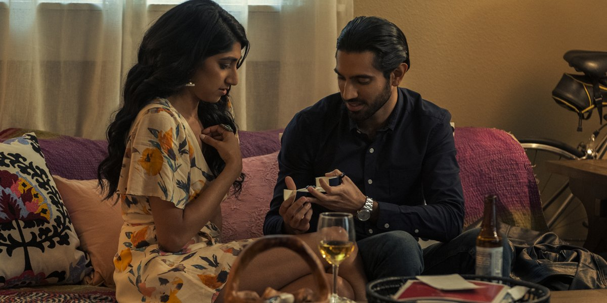 Sunita Mani and Omar Maskati in Evil Eye