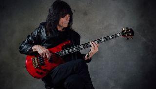 Rudy Sarzo plays his signature Spector Euro4 LT bass