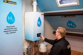 This 100% BDR Thermea Hydrogen Boiler is currently being tested in hydrogen heating trials