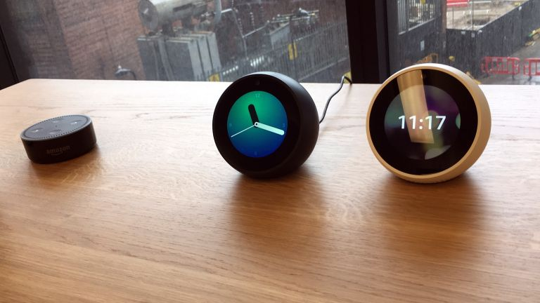 Amazon Echo Spot would obviously work well in a bedroom setting