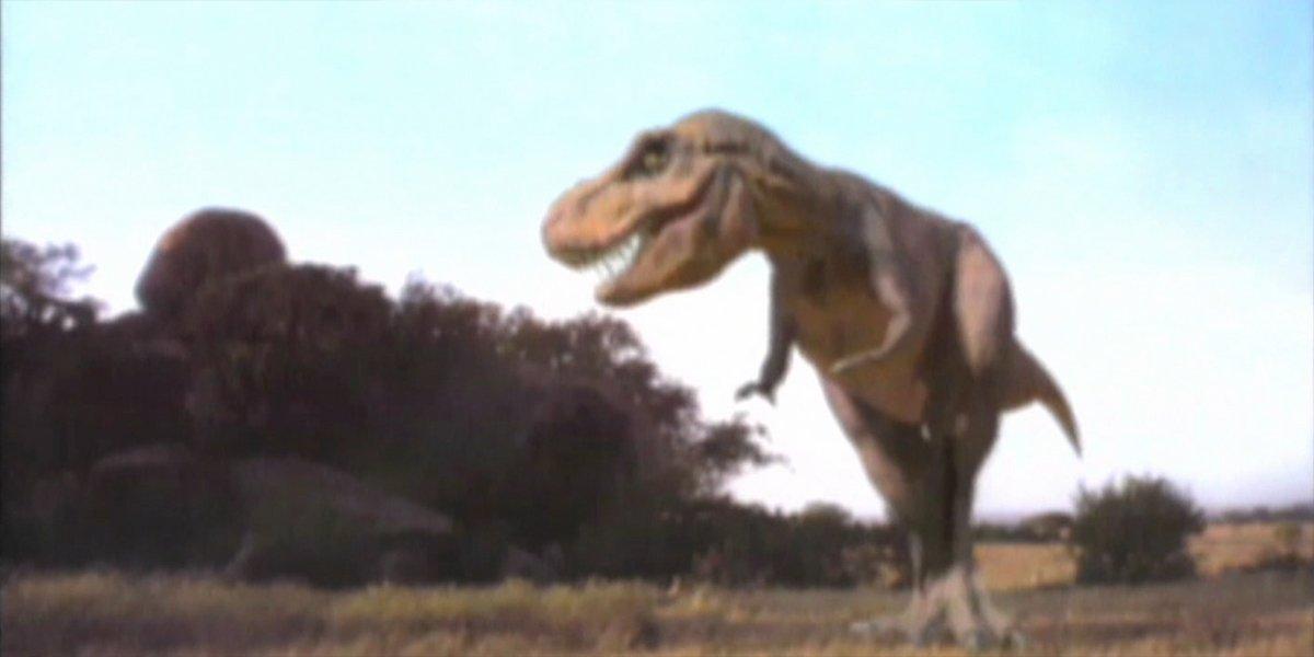 Jurassic Park T-Rex test footage