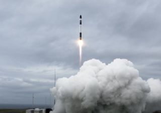 A Rocket Lab Electron rocket launches 10 Earth-imaging satellites for Planet and Canon Electronics into orbit from Launch Complex 1 on the Mahia Peninsula, New Zealand on Oct. 28, 2020.