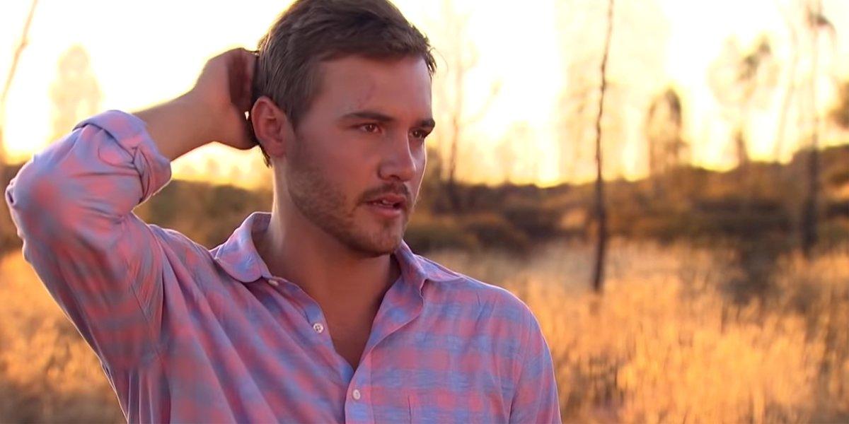The Bachelor 2020 Peter heartbroken standing in Australia ABC