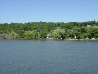 Eastern shore of the Hudson River at Garrison, New York (80 km upriver from New York City)