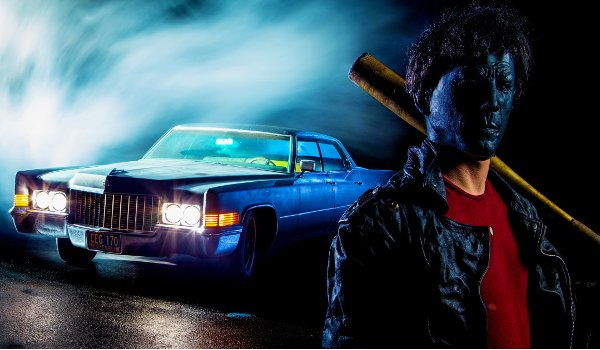 Boogeyman Pop the killer stands with his bat in front of his car