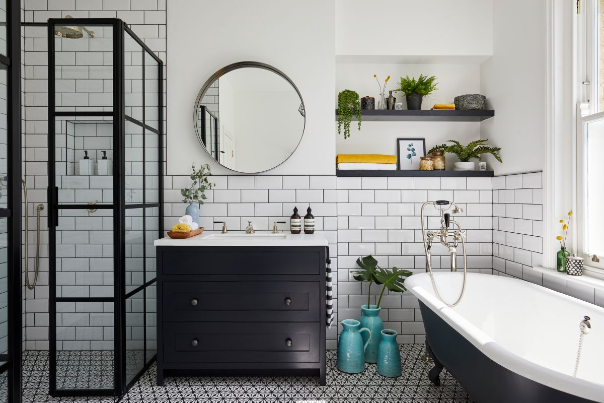 How To Clean Bathroom Tiles With Baking Soda Vinegar Lemon And More Real Homes