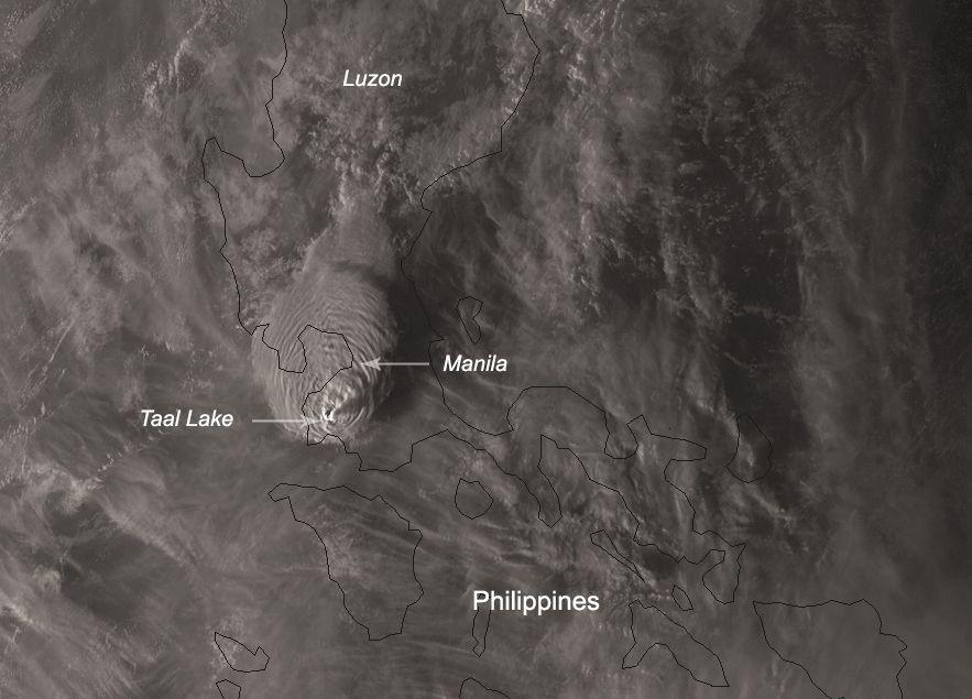 Huge Philippines Volcano Eruption Blasts Ash 9 Miles Up As
