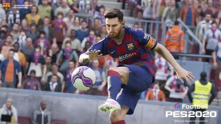 An image of Lionel Messi in eFootball PES 2020