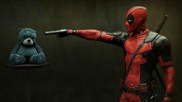 Deadpool and a Teddy Bear