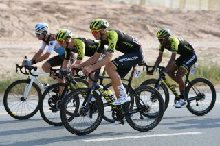 DUBAI UNITED ARAB EMIRATES FEBRUARY 23 Jack Bauer of New Zealand and Team Mitchelton Scott Grmay Tsgabu Gebremaryam of Ethiopia and Team Mitchelton Scott during the 6th UAE Tour 2020 Stage 1 a 148km stage from Dubai The Pointe to Dubai Silicon Oasis UCIWT UAETour uaetour on February 23 2020 in Dubai United Arab Emirates Photo by Justin SetterfieldGetty Images