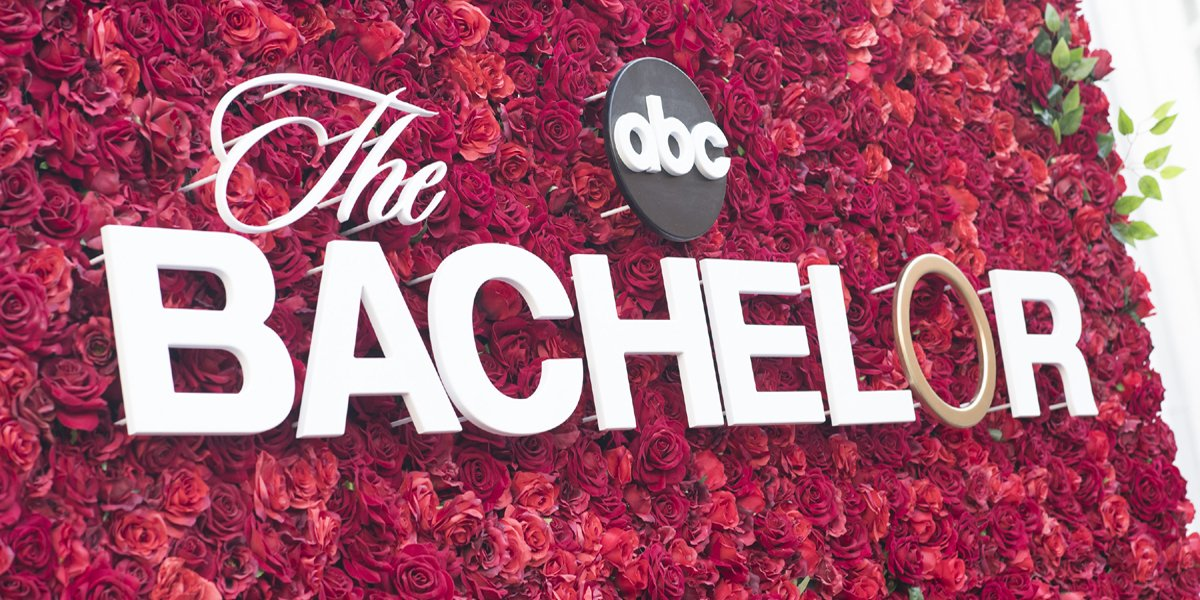 The Bachelor ABC logo with roses