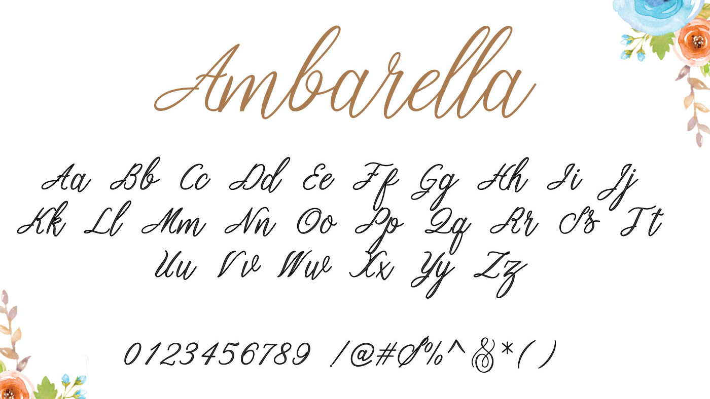 Free handwriting fonts: Ambarella