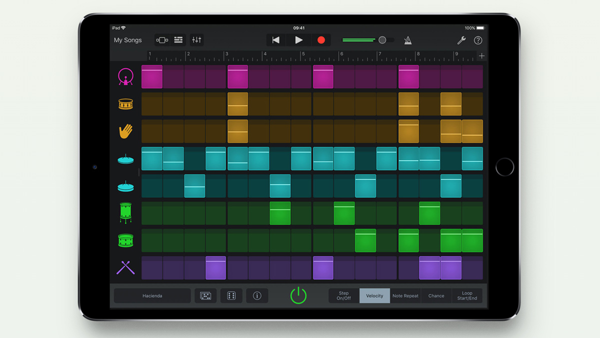 GarageBand for iOS gets a classic drum machine step