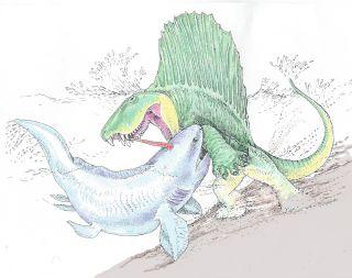 Illustration of Dimetrodon Battle