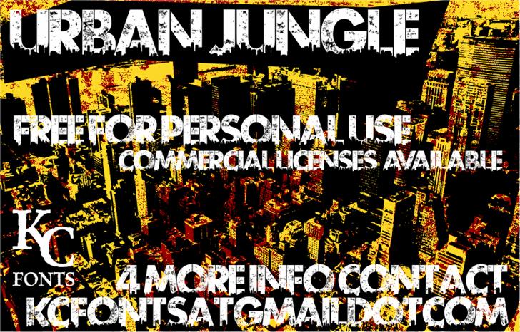 Best free fonts: Urban Jungle