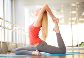 yogi doing a stretch