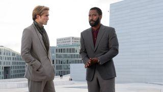 Robert Pattinson and John David Washington in Tenet.