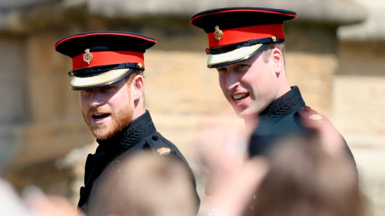 Prince William and Prince Harry in happier times