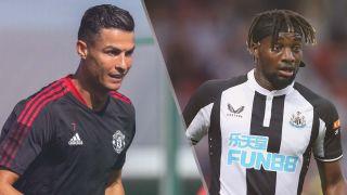 Manchester United vs Newcastle United live stream — Cristiano Ronaldo of Manchester United and Allan Saint-Maximin of Newcastle United