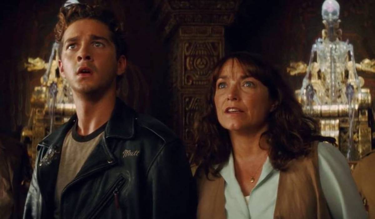 Shia LaBeouf and Karen Allen in Indiana Jones and the Kingdom of the Crystal Skull