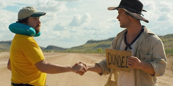 Danny McBride and Chris Hemsworth in Crocodile Dundee teaser