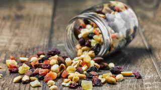 best trail mix: trail mix and jar