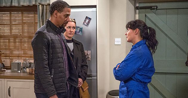DS Benton arrives at Moira Dingle's door with devastating news…in Emmerdale