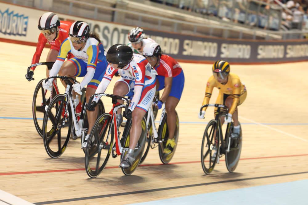 Women's keirin, Track World Championships 2012, day four Keirin round - Gnidenko (Russia)
