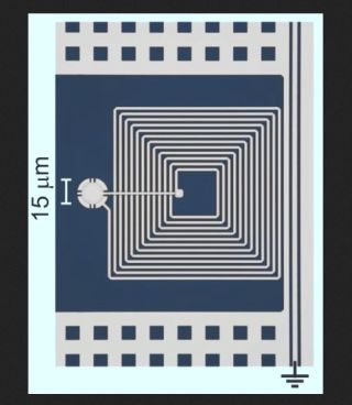 a micro-drum and circuit that could be used as a storage device in quantum computers,