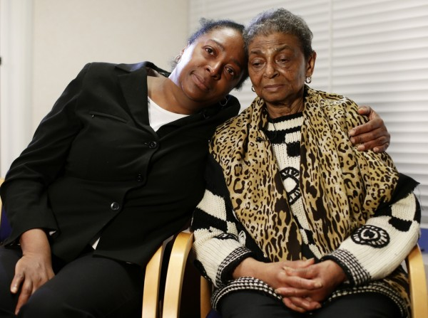 Ava (left) and Pansy Blake, sister and mother of murdered actress Sian Blake