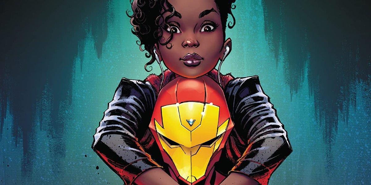 Riri Williams and her Ironheart helmet