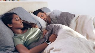 Fitbit Ionic couple in bed