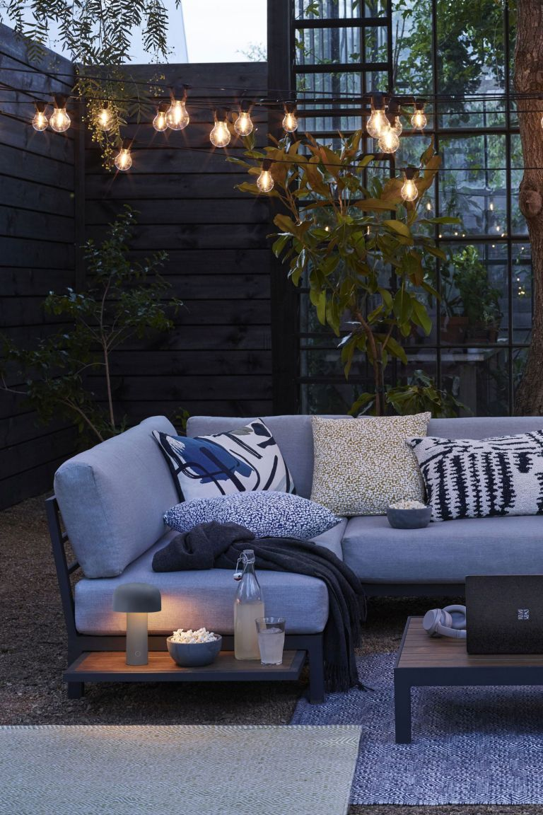 John Lewis festoon lights - garden lighting