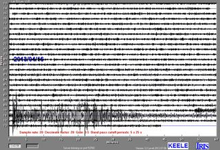 Khash, Iran earthquake seismograph