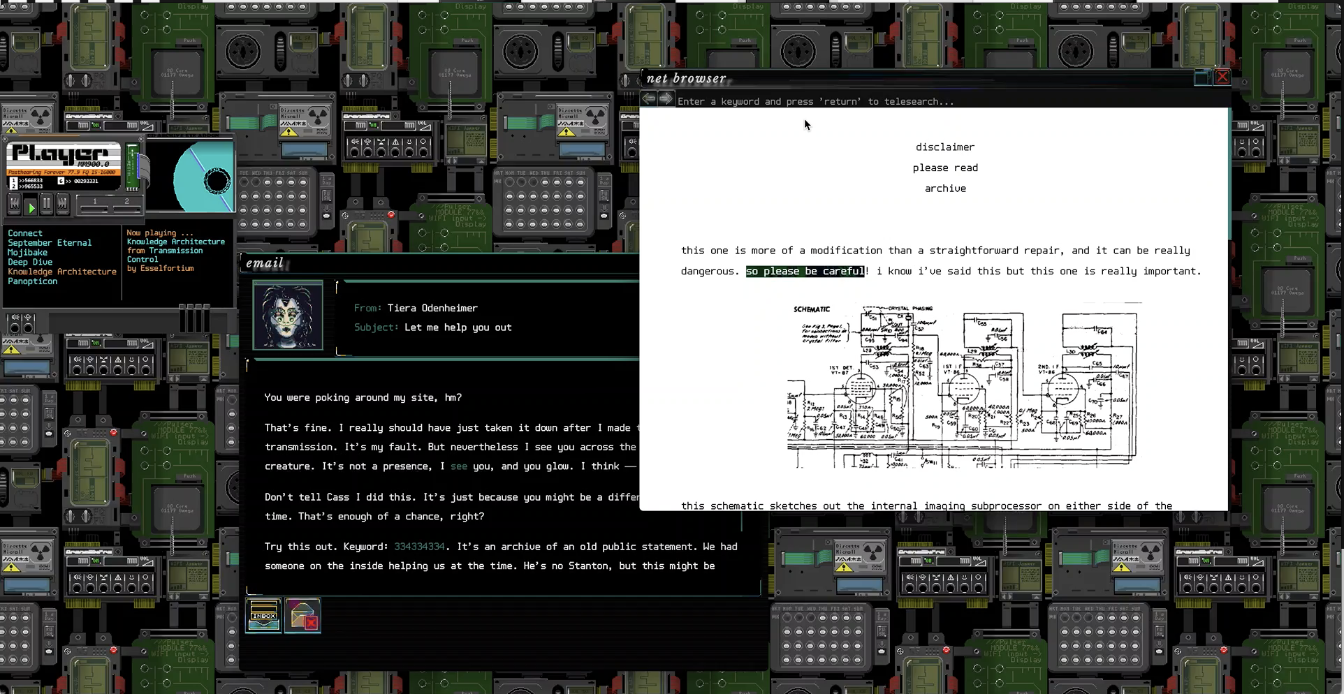 Subserial Network is a 1990s internet simulator with android-hunting