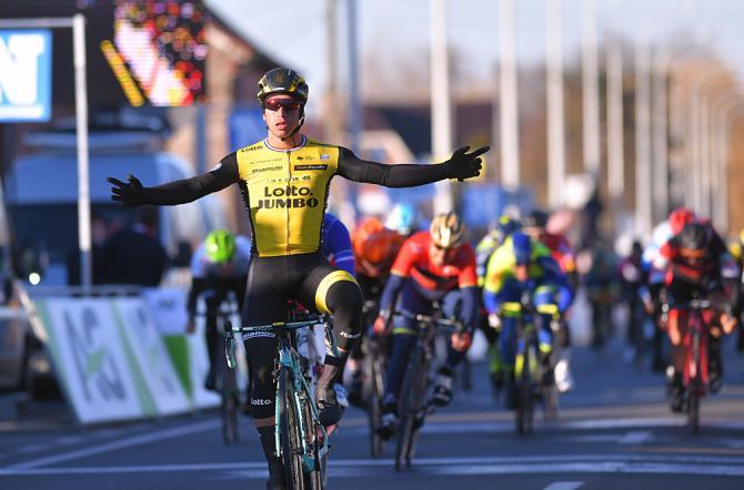 Dylan Groenewegen (LottoNL-Jumbo) wins Kuurne-Brussel-Kuurne 2018