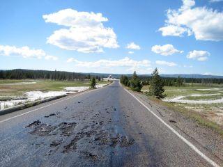 Yellowstone road damage