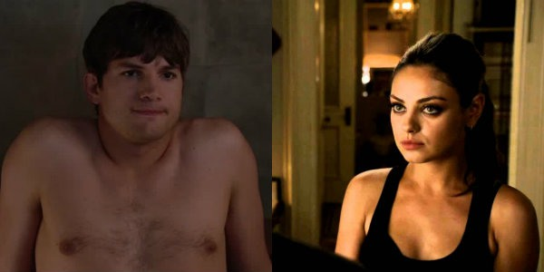 Ashton Kutcher in No Strings Attached and Mila Kunis in Friends with Benefits