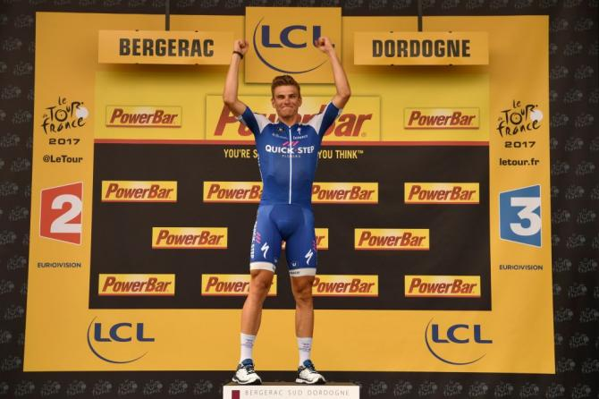 Marcel Kittel on the podium after winning stage 10 of the Tour de France