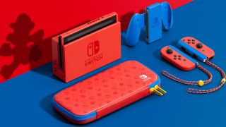 Nintendo Switch Mario Red and Blue