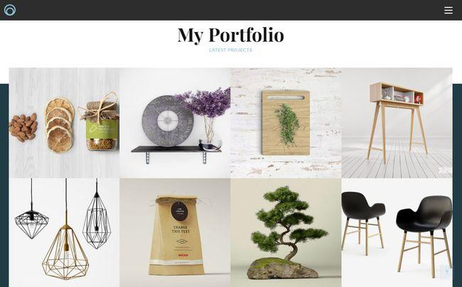 10 on-trend portfolio templates: Overlap