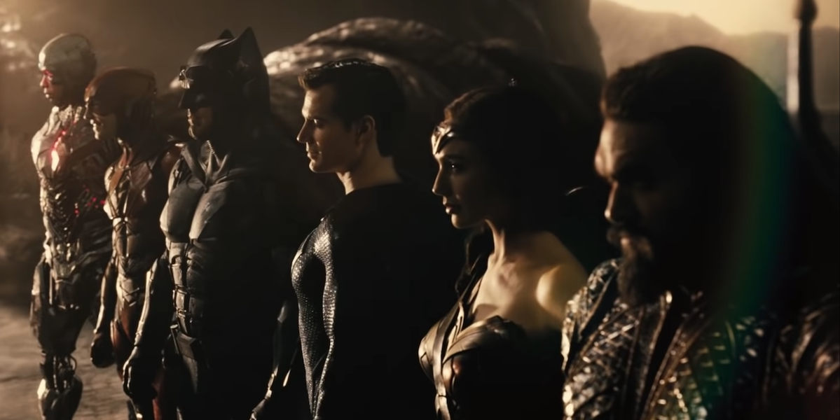 The Justice League united for the Snyder Cut trailer