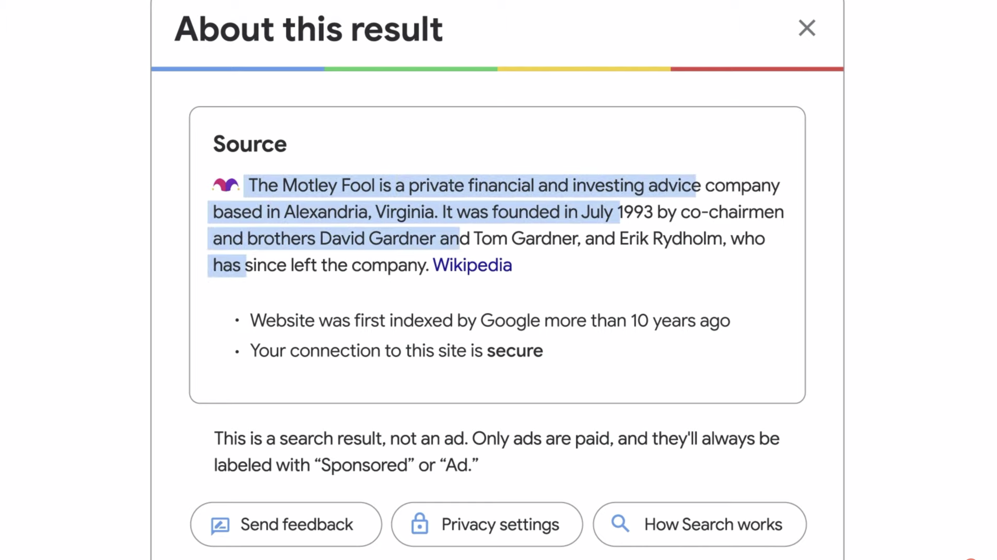 Google IO 2021 — about this result