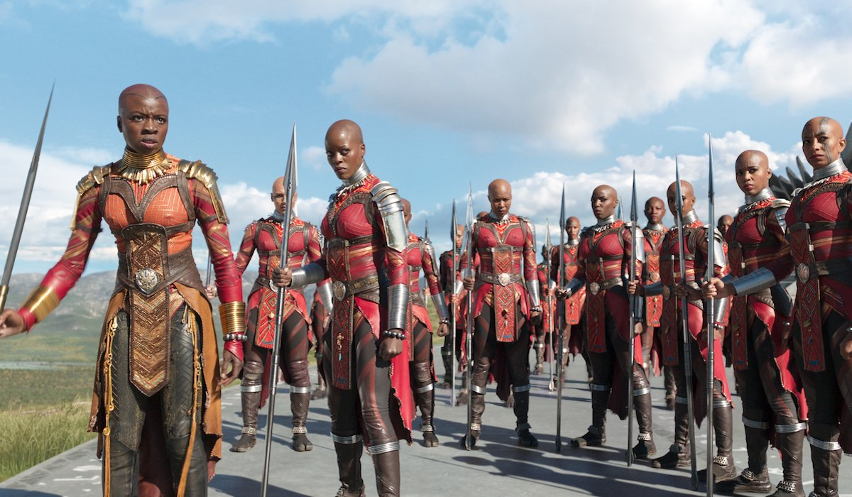 Danai Gurira's Okoye and the Dora Milaje Guard in Black Panther