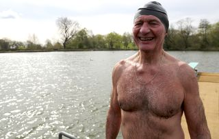 Pond swimmer Chris